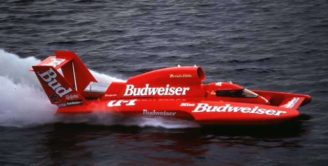 The Miss Budweiser hydroplane