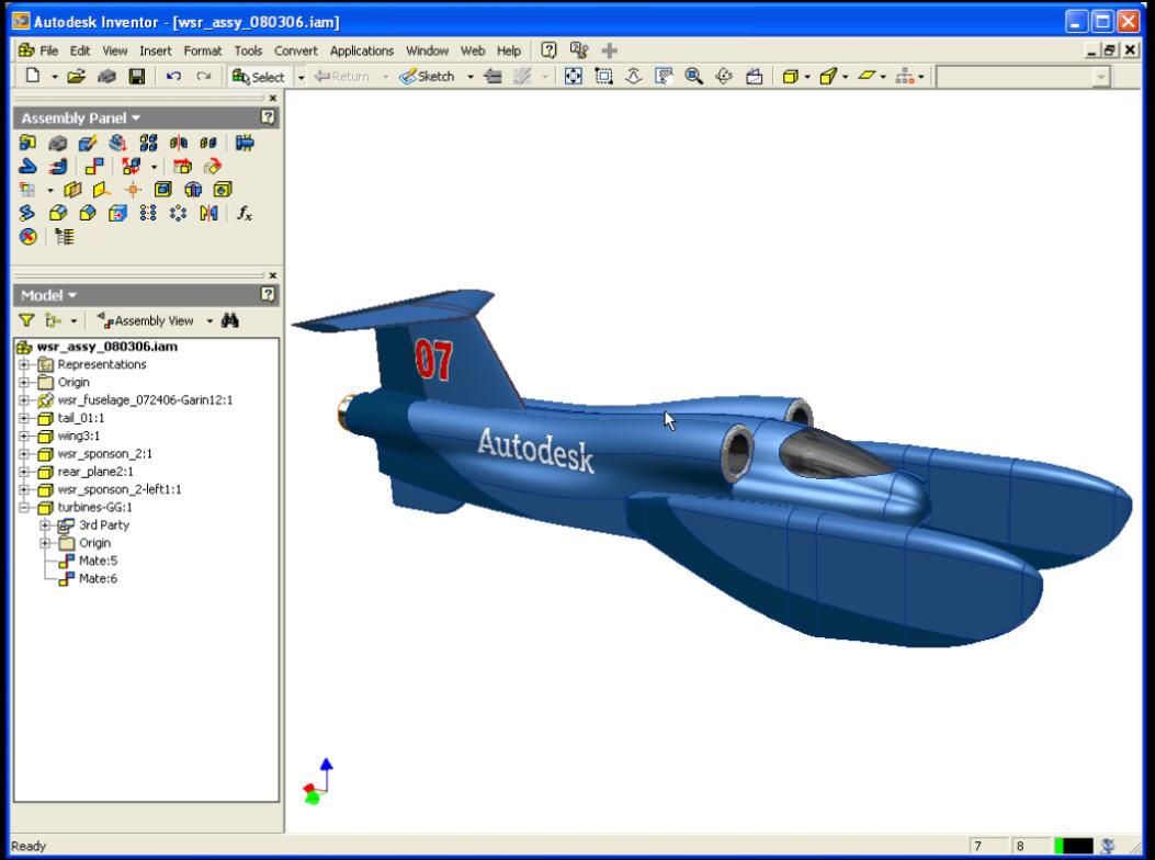 3D Model of American Challenge watercraft